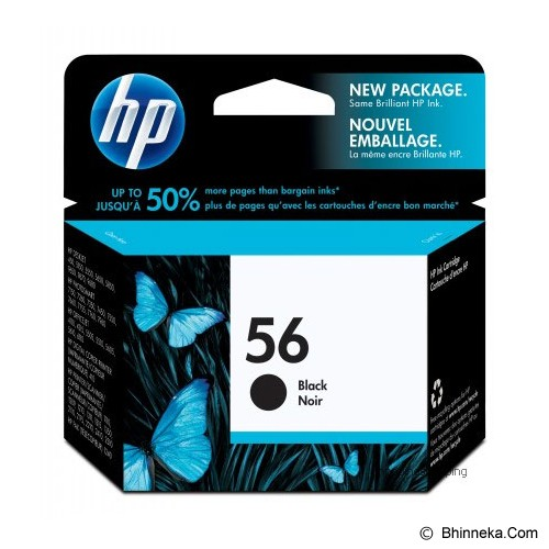 HP Black Ink Cartridge 56 [C6656AA] - Tinta Printer Hp